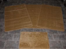 ROMANY GYPSY WASHABLE 4PC SETS NON SLIP TRAVELLERS MATS LARGE DARK BEIGE/BISCUIT
